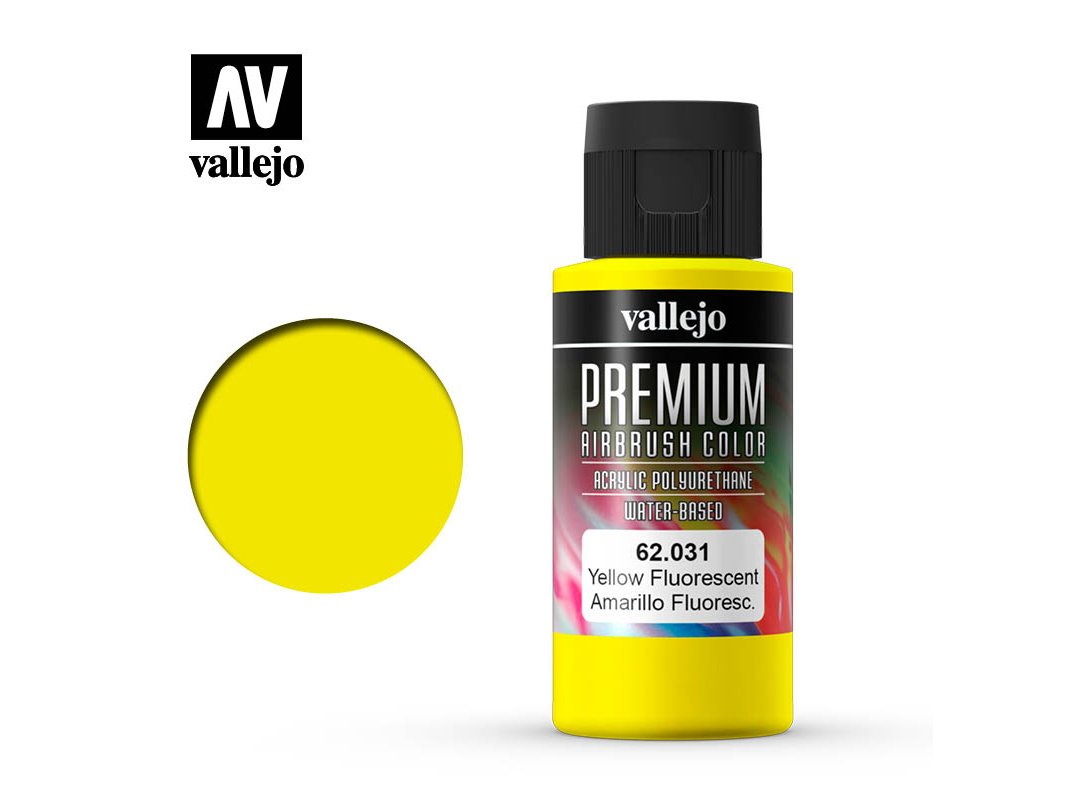 Farbe Vallejo PREMIUM Color 62031 Fluorescent Yellow (60ml)