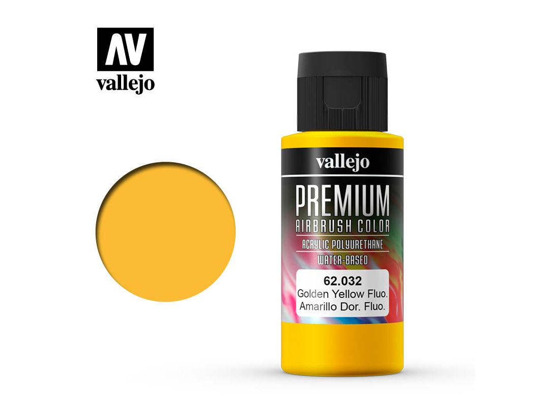 Farbe Vallejo PREMIUM Color 62032 Fluorescent Gondel Yellow (60ml)