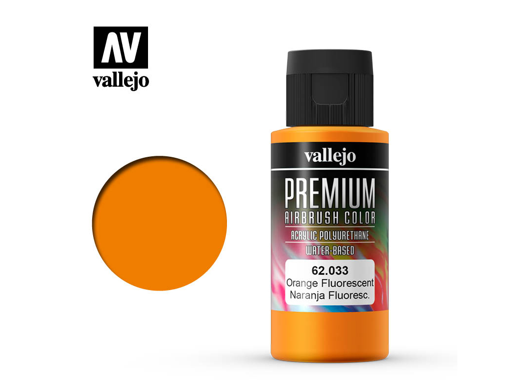 Farbe Vallejo PREMIUM Color 62033 Fluorescent Orange (60ml)