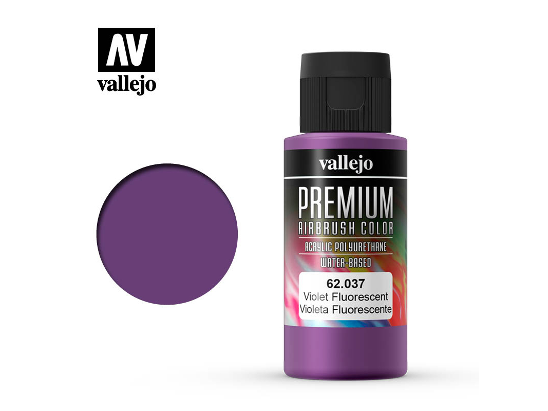 Farbe Vallejo PREMIUM Color 62037 Fluorescent Violet (60ml)