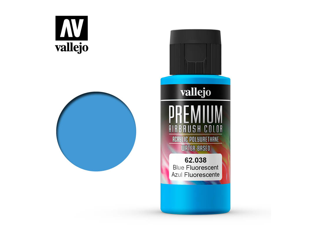 Farbe Vallejo PREMIUM Color 62038 Fluorescent Blue (60ml)