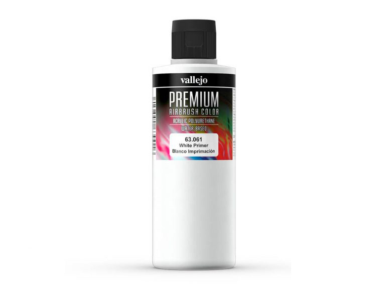 Vallejo PREMIUM Color 63061 White Primer (200ml)