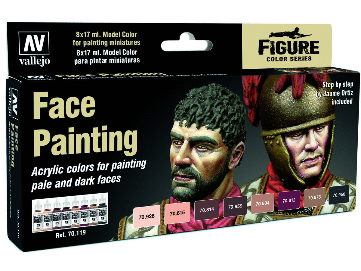 Vallejo Model Color Effects Set 70119 Faces Painting Set (8) by Jaume Ortiz