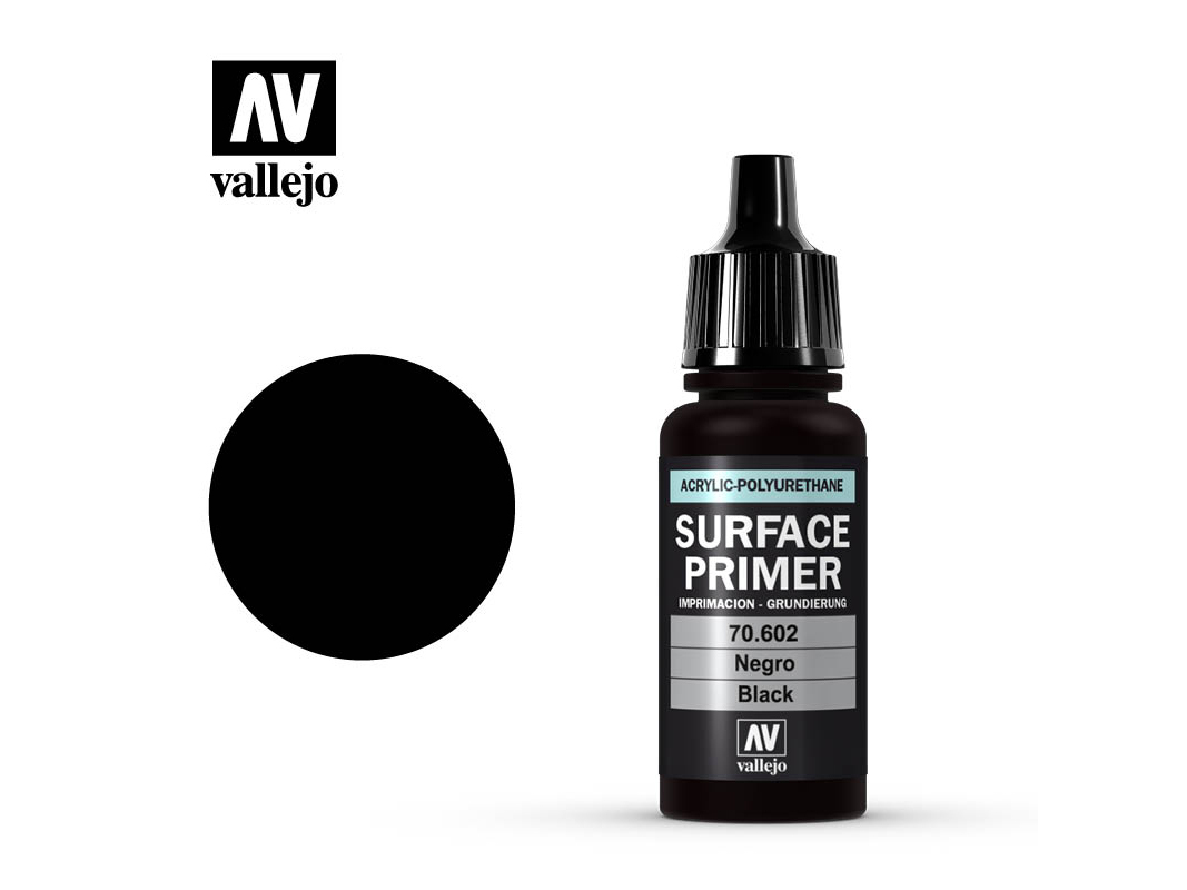 Vallejo Surface Primer 70602 Black (17ml)