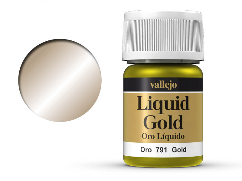 Farbe Vallejo Liquid Gold 70791 Gold (Alcohol Based) (35ml)