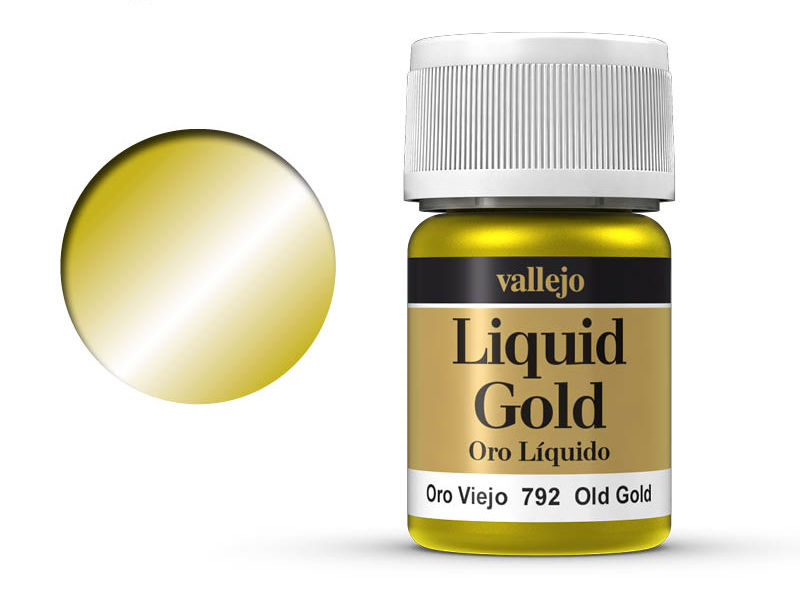 Farbe Vallejo Liquid Gold 70792 Old Gold (Alcohol Based) (35ml)
