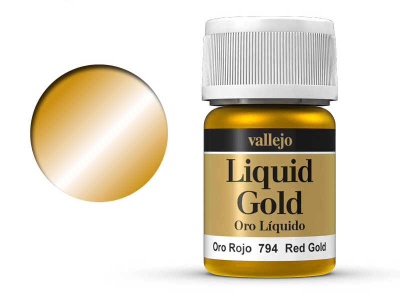 Farbe Vallejo Liquid Gold 70794 Red Gold (Alcohol Based) (35ml)