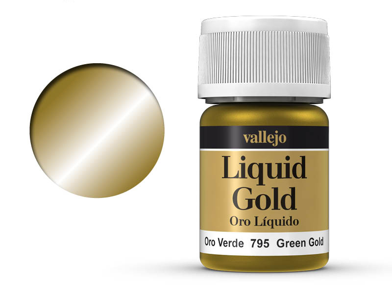 Farbe Vallejo Liquid Gold 70795 Green Gold (Alcohol Based) (35ml)