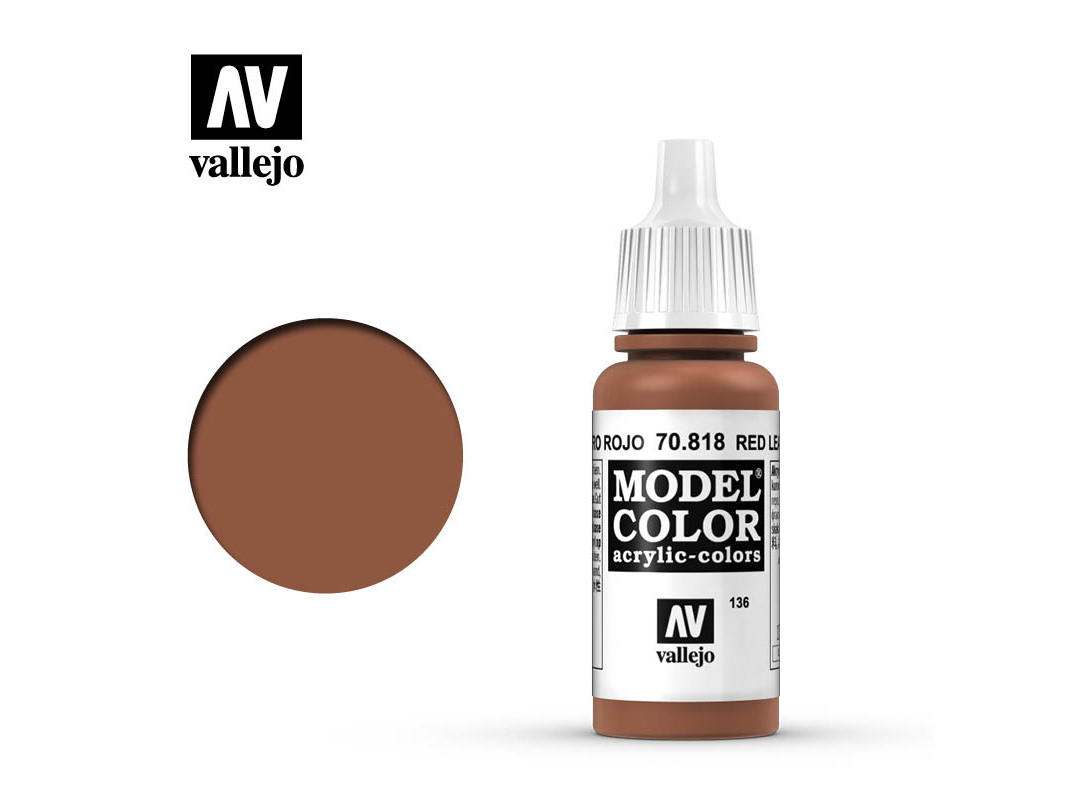 Farbe Vallejo Model Color 70818 Red Leather (17ml)