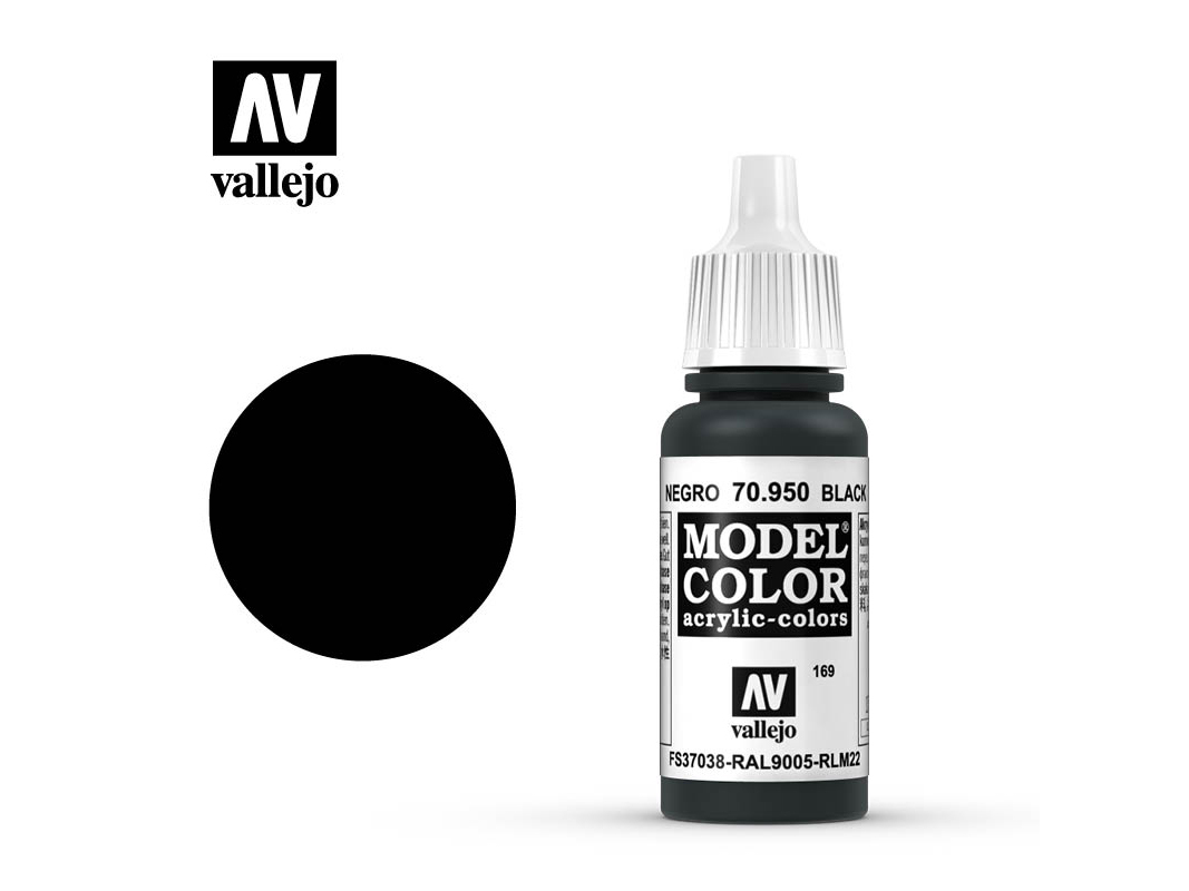 Farbe Vallejo Model Color 70950 Black (17ml)
