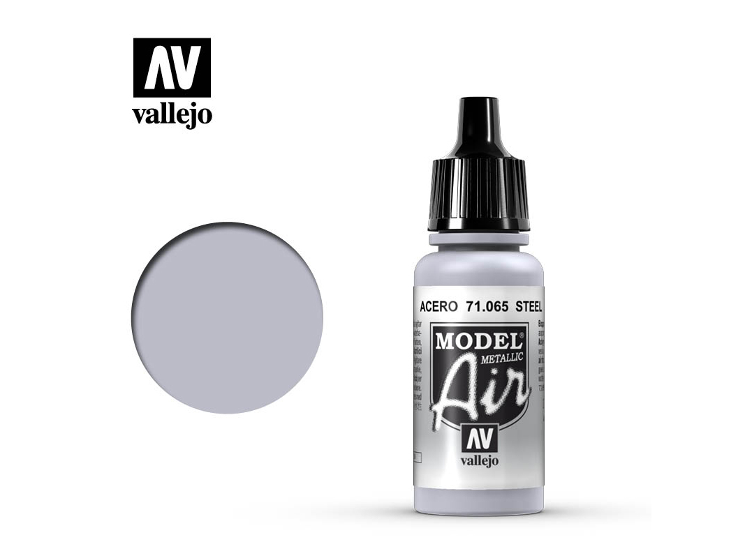 Farbe Vallejo Model Air 71065 Steel (17ml)