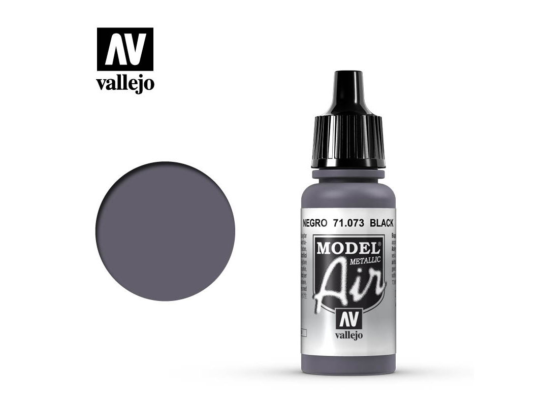 Farbe Vallejo Model Air 71073 Black (17ml)