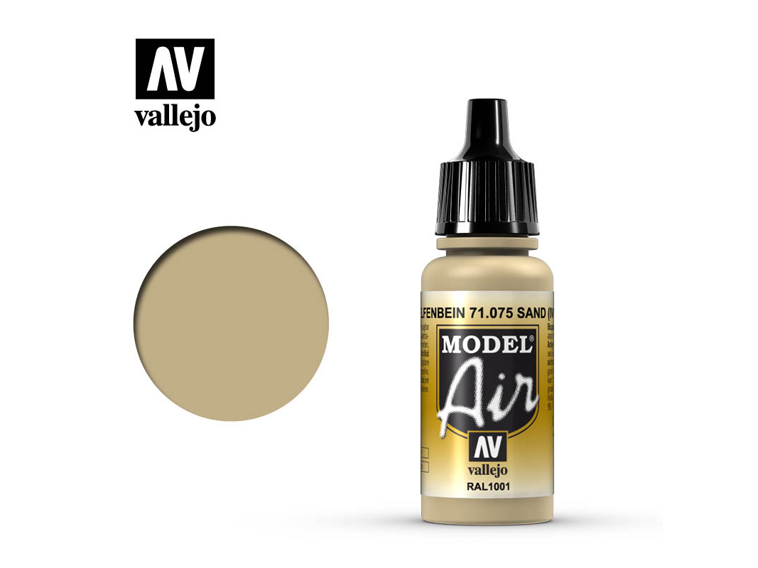 Farbe Vallejo Model Air 71075 Ivory (17ml)