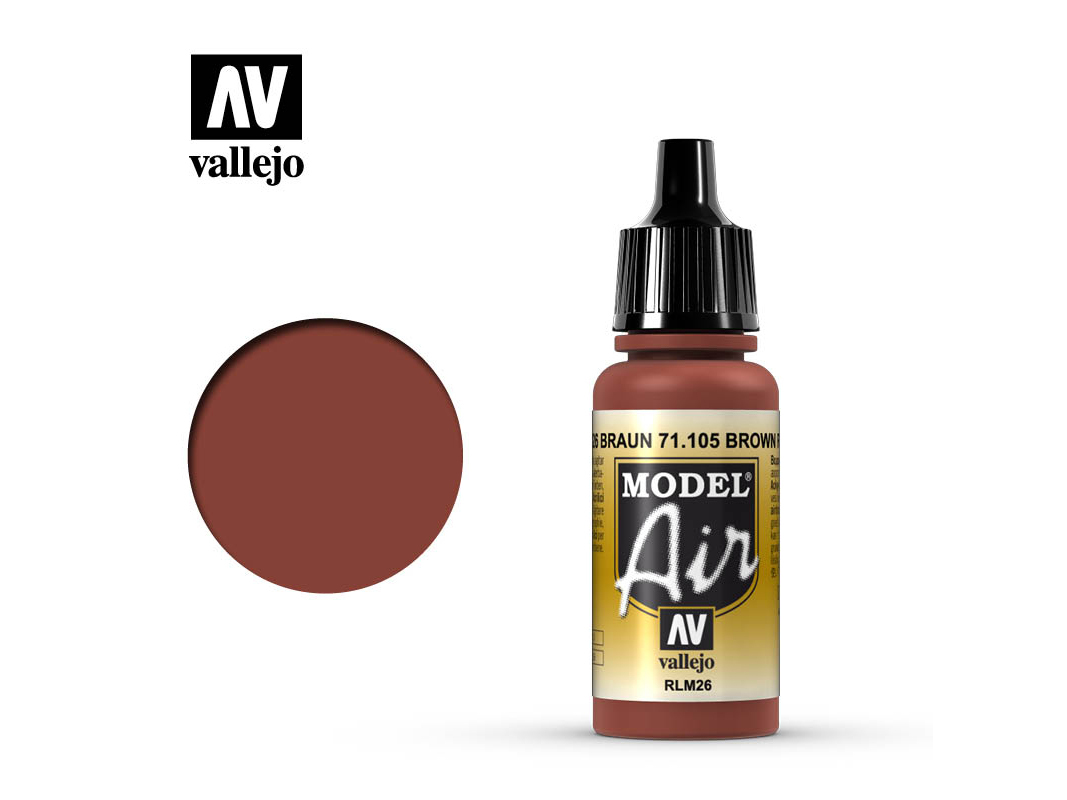 Farbe Vallejo Model Air 71105 Brown RLM26 (17ml)