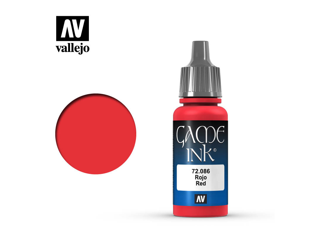 Farbe Vallejo Game Color 72086 Red Ink (17ml)
