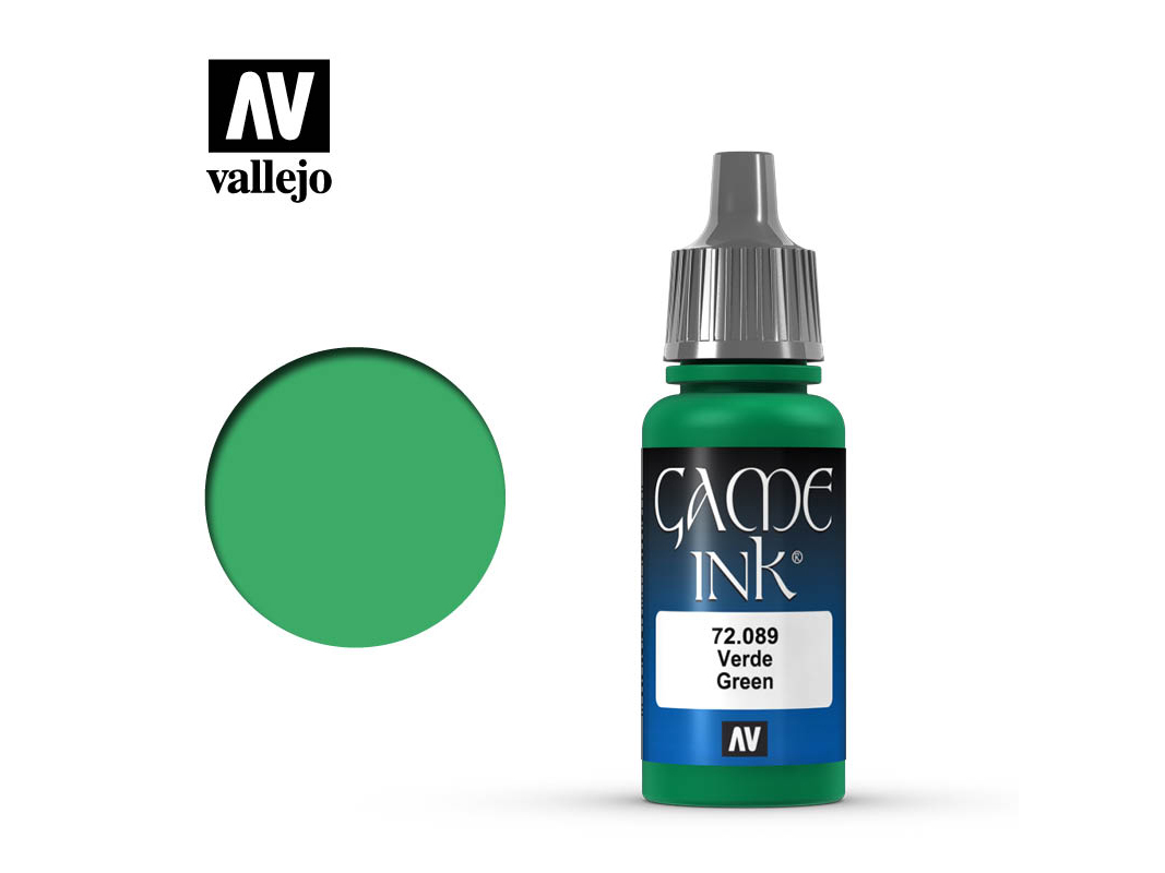 Farbe Vallejo Game Color 72089 Green Ink (17ml)