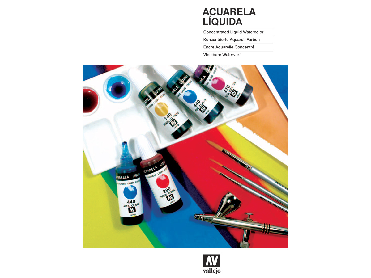 Vallejo CC033 Color Chart: Designers Liquid Watercolors