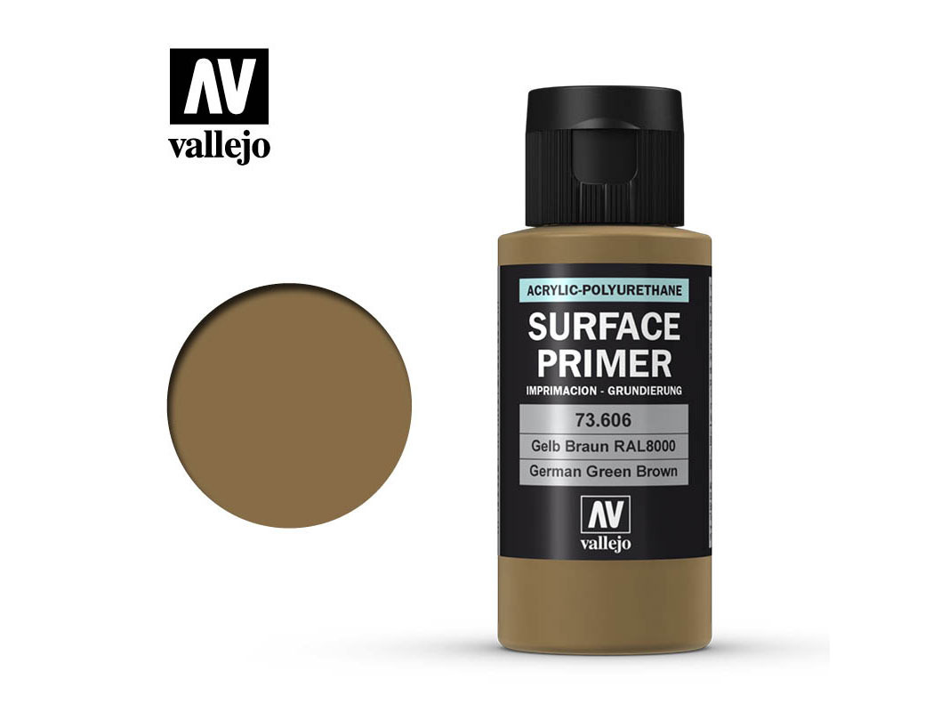 Vallejo Surface Primer 73606 Ger. Green Brown (60ml)