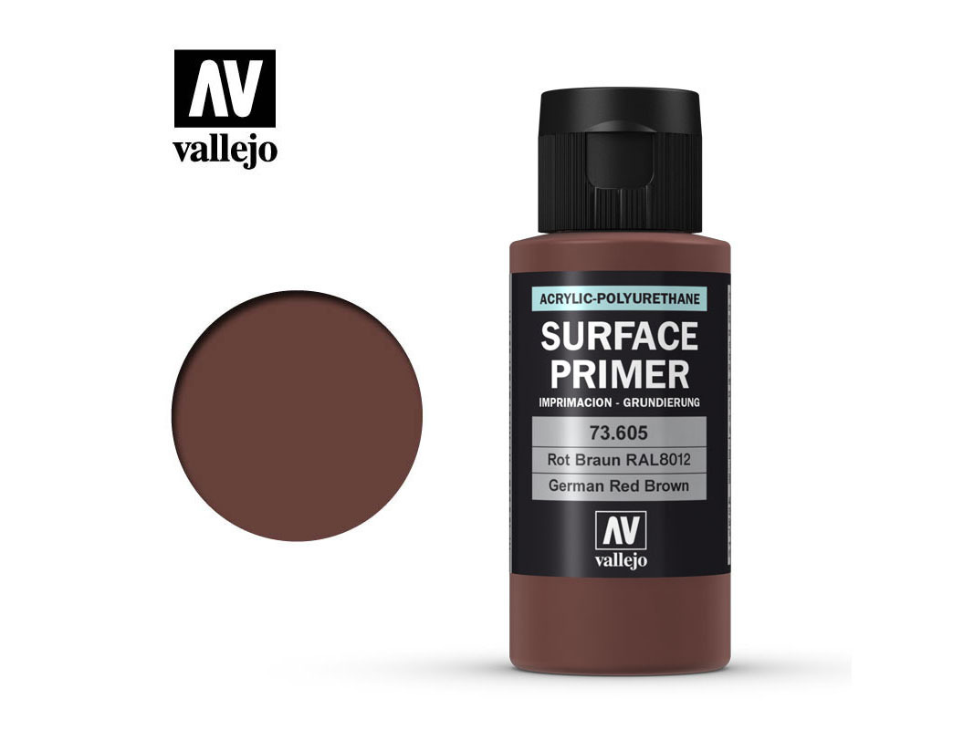 Vallejo Surface Primer 73605 Ger. Red Brown (60ml)