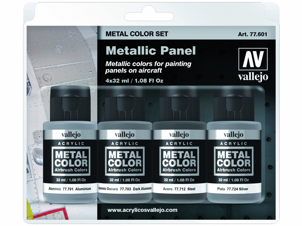 Vallejo Metal Color Set 77601 Metallic Panel (4x32ml)