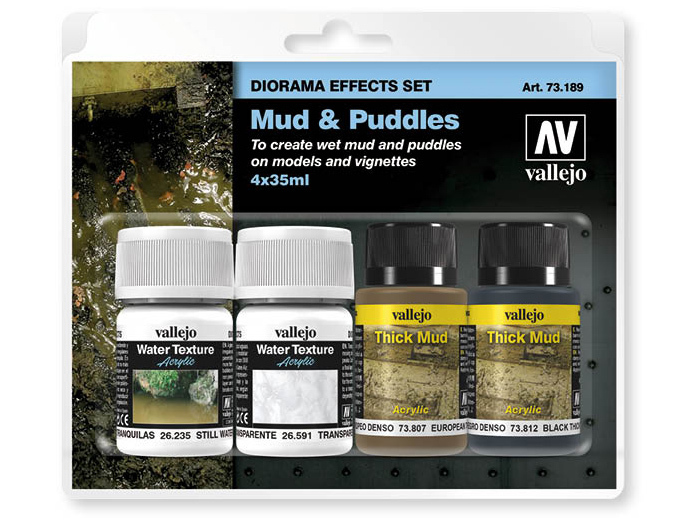 Vallejo Diorama Set 73189 Mud & Puddles (4x35ml)