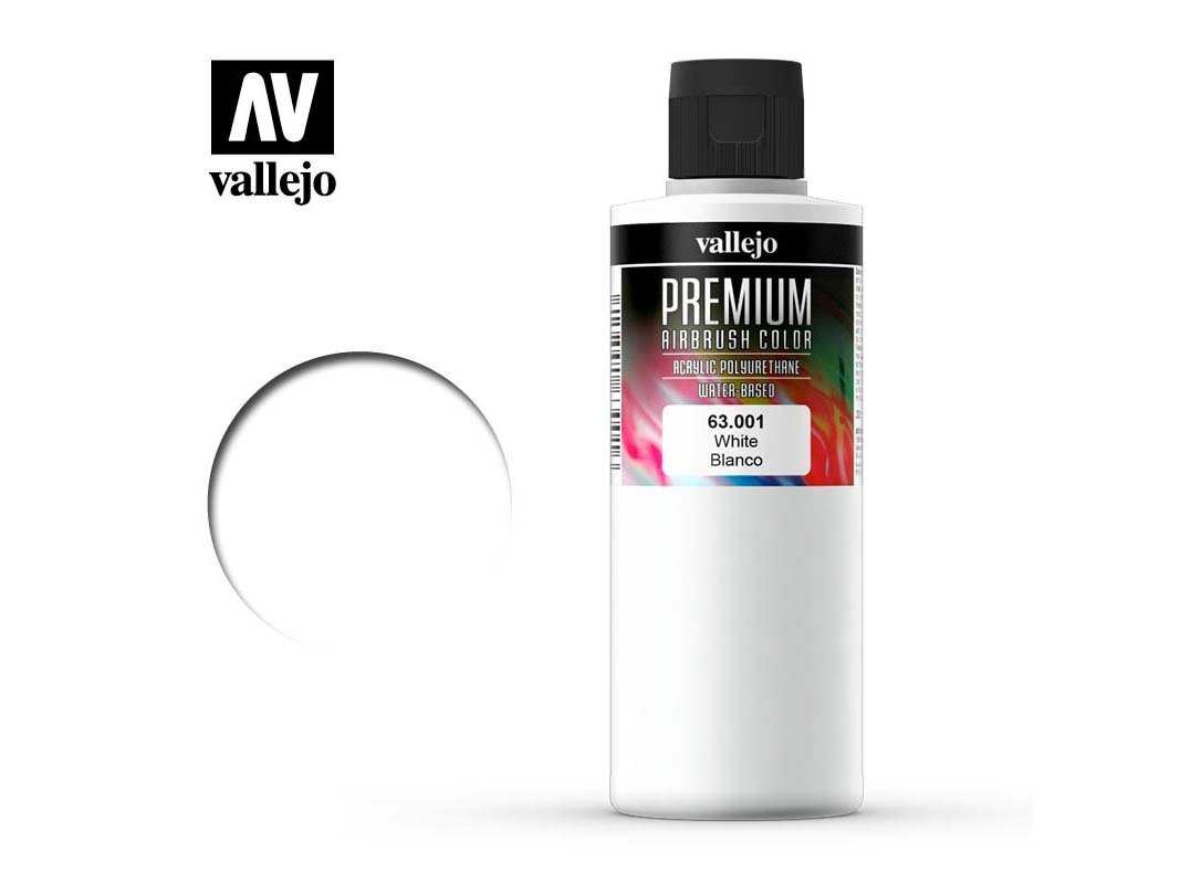 Farbe Vallejo PREMIUM Color 63001 White (200ml)
