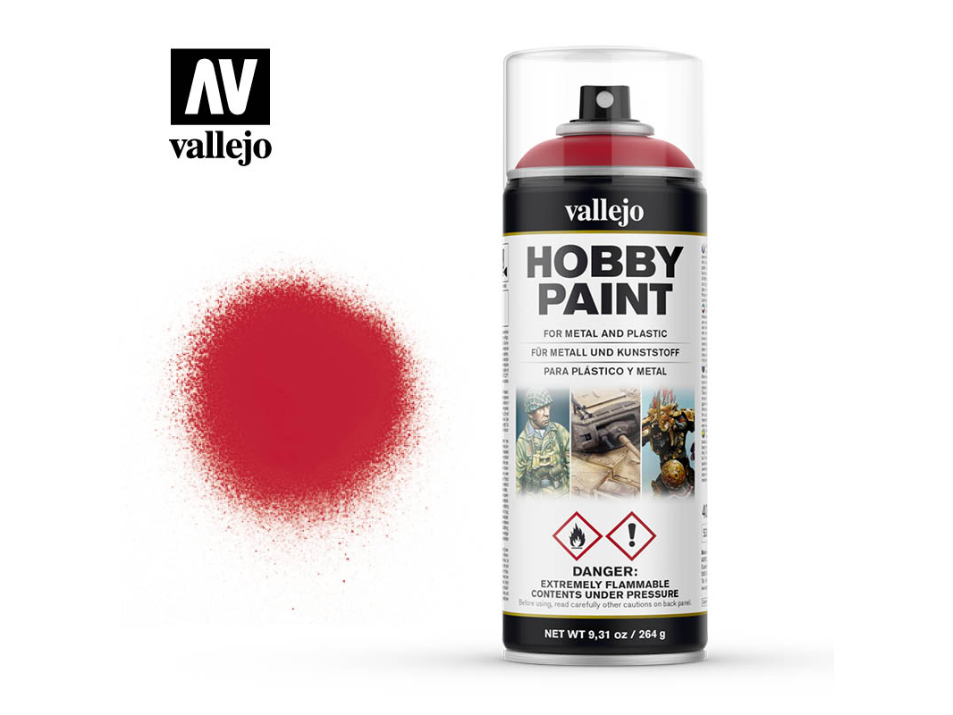 Vallejo Hobby Spray Paint 28023 Bloody Red (400ml)